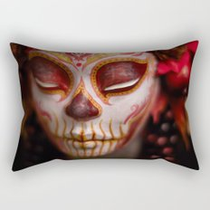 Crimson Harvest Muertita Detail Rectangular Pillow