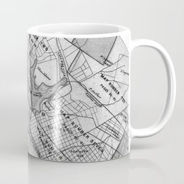 Vintage Map of Oakland California (1878) BW Coffee Mug