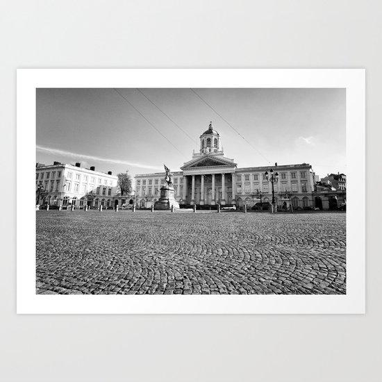 Place Royale Brussels Art Print