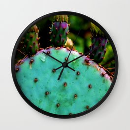 Cactus In The Garden Wall Clock