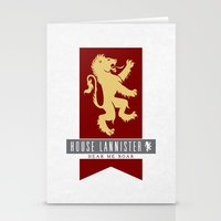 lannister Stationery Cards featuring House Lannister Sigil by P3RF3KT