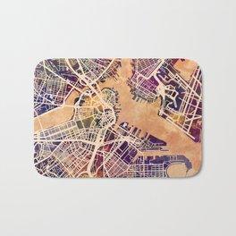 Boston Massachusetts Street Map Bath Mat