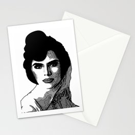Lady in Black and White by Lika Ramati Stationery Cards