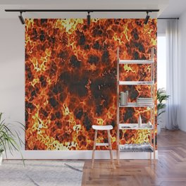 fire lava embers hot background Wall Mural