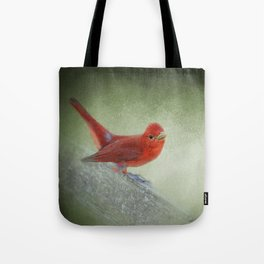 Song of the Summer Tanager 4 - Birds Tote Bag