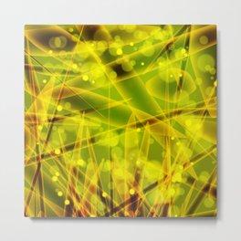 Microbes Metal Print