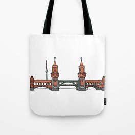 Oberbaum Bridge in Berlin Tote Bag