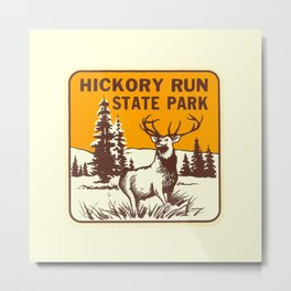 Hickory Run Camping Buck Deer PA Park Metal Print