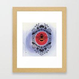 Bumble Bee Sunrise Framed Art Print