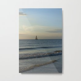 Sailing at Dusk Metal Print