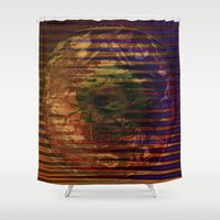 spiritual Shower Curtains featuring Spiritual Conflict by Joseph Mosley