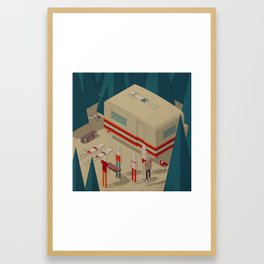 Habitat 14 Framed Art Print