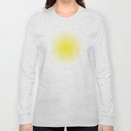 Yellow Spray Painting Long Sleeve T-shirt