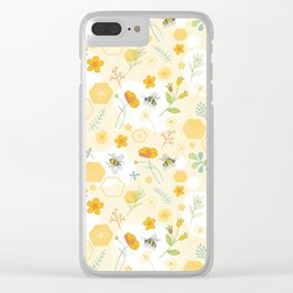 Honey Bees and Buttercups Clear iPhone Case