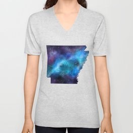 Arkansas State Galaxy Map / United States Art Print Unisex V-Neck