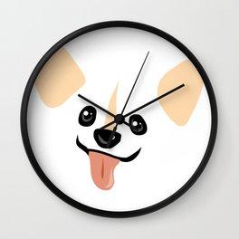 Akettu corgi face Wall Clock