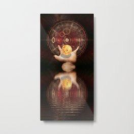 The Wheel of Light Energy by GEN Z Metal Print