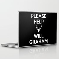 will graham Laptop & iPad Skins featuring Please Help Will Graham by Paige Thulin