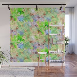 A bed of flowers. Wall Mural