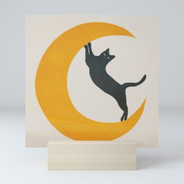 Moon and Cat Mini Art Print