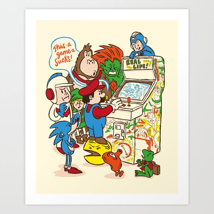 This Game Sucks Art Print