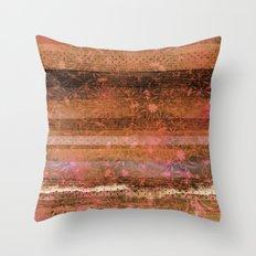 Autumn Peach and Brown Throw Pillow