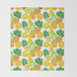 Tropical Prickles Throw Blanket