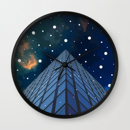 Snow in the city Wall Clock