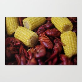 Boiled Crawfish and Corn on the Cob Canvas Print