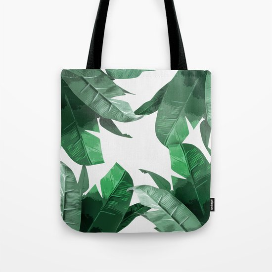 Tropical Palm Print Tote Bag
