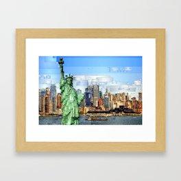 City of New York - Statue of Liberty Framed Art Print
