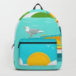 Greek Boat  Backpack
