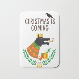 Christmas is coming Bath Mat