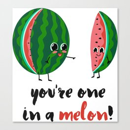 One in a Melon Canvas Print