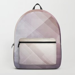 Grey Abstract Geometric Design Pattern Backpack