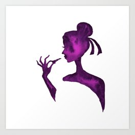 DIVA WITH Lipstick - PAINTED - Gorgeous VIOLET Art Print