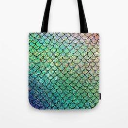 Colorful Glitter Mermaid Scales II Tote Bag