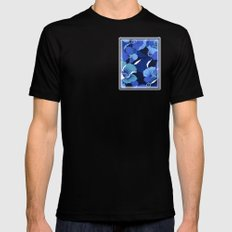 Blue For Poppies Mens Fitted Tee Black MEDIUM