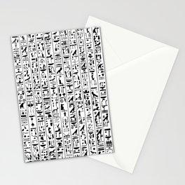 Hieroglyphics B&W / Ancient Egyptian hieroglyphics pattern Stationery Cards