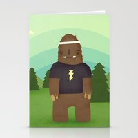 sasquatch Stationery Cards featuring sasquatch  by Pope Saint Victor