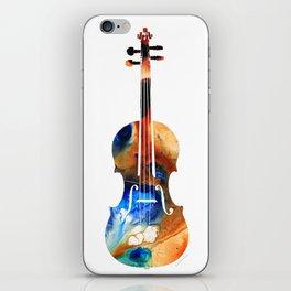 Violin Art By Sharon Cummings iPhone Skin