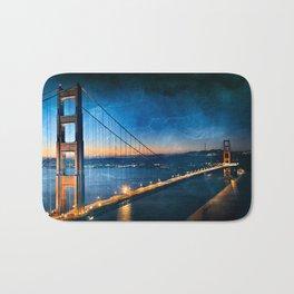 Golden Gate Ghost Bridge Bath Mat