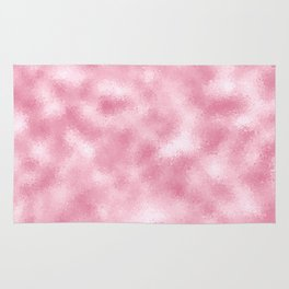 Strawberry & Cream Reflective Abstract Background Rug