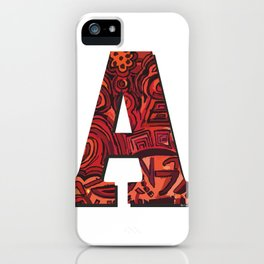 A Letter iPhone Case