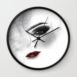Pretty face ,fashion,make up illustration illustration Wall Clock