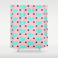 lips Shower Curtains featuring LIPS by RUEI