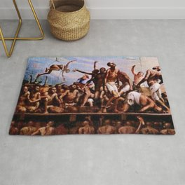 African American Masterpiece '1684 - Voyage from the Middle Passage  by Robert Riggs Rug