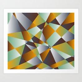 Geometrics in 1950s retro Art Print