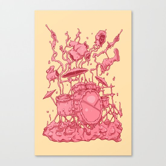 Bubble Drummer Canvas Print