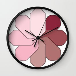 Flower Gradient Wall Clock